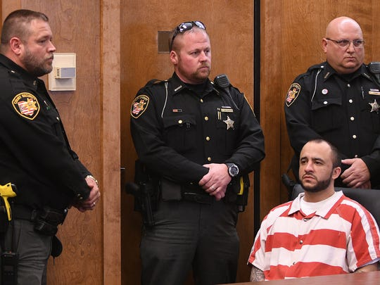 Christen Ramirez is sentenced to life in prison Monday evening in Judge Brent Robinson's courtroom.