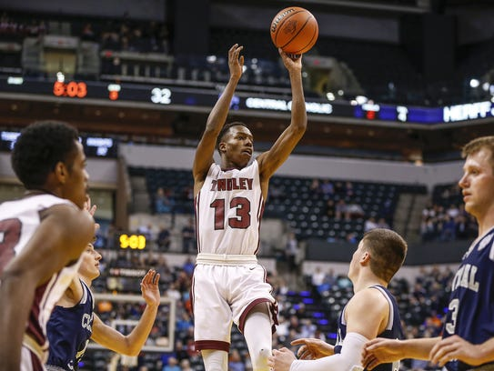 High-scoring Tindley guard Eric Hunter holds a Butler
