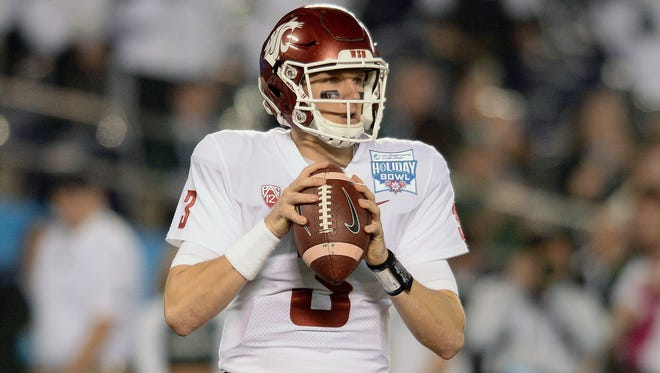 Washington State quarterback Tyler Hilinski, started for the Cougars in the 2017 Holiday Bowl against Michigan State.