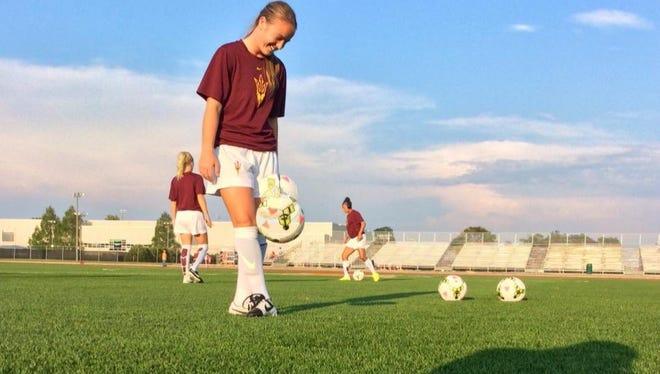 ASU freshman midfielder Aly Moon scored her fourth goal of the season Friday at Illinois.
