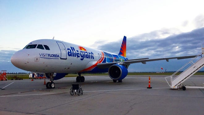 Allegiant Airlines begins flights between El Paso and Orlando, Fla., Friday.