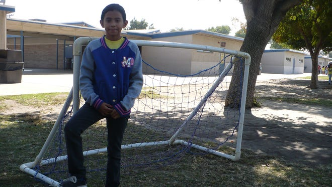Roosevelt Elementary student Yannina Minguela is fair on, off soccer field.