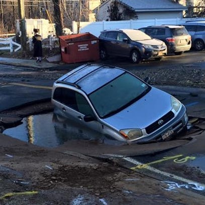 Ramapo police said the driver of this car ignored road