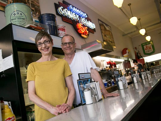 Cathy and Jim Smith have owned Coney Island Diner on North Main Street in Mansfield since 1992.