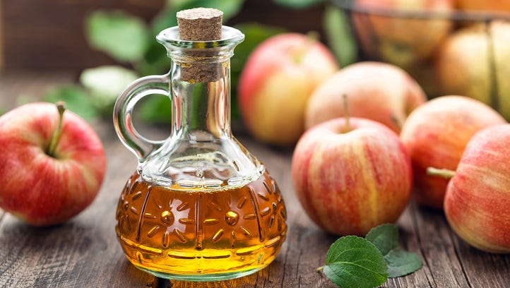 Vinegar, such as apple cider vinegar, is essential