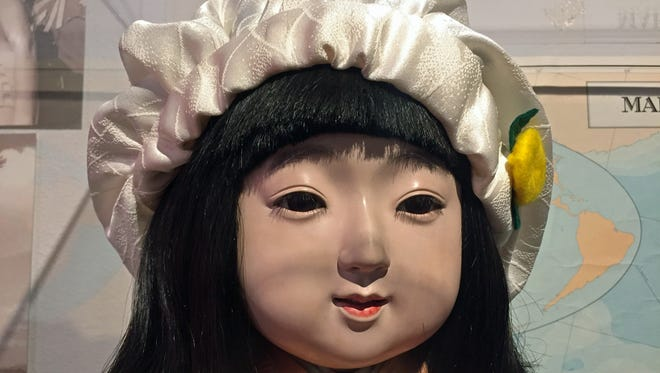 Miss Wakayama, a doll given to the Nevada Historical Society by Japan in 1929, has a new cap and is on display at the society's gallery.
