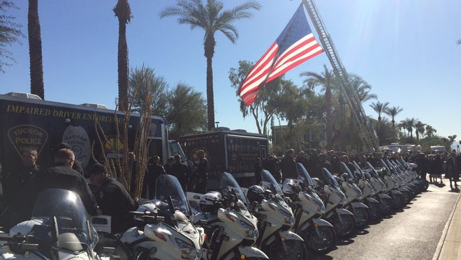 DUI enforcement vehicles parked in front of the Arizona State Capitol in Phoenix at a holiday enforcement event on Tuesday, Dec. 1, 2015.