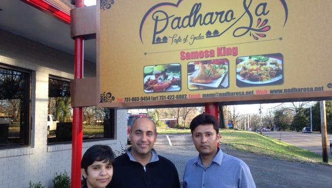 Padharo Sa management: Ritu Verdi, president/director; Ravi Verdi, owner; and Amit Chaturvedi, manager. The restaurant is open at 1431 Hollywood Drive.