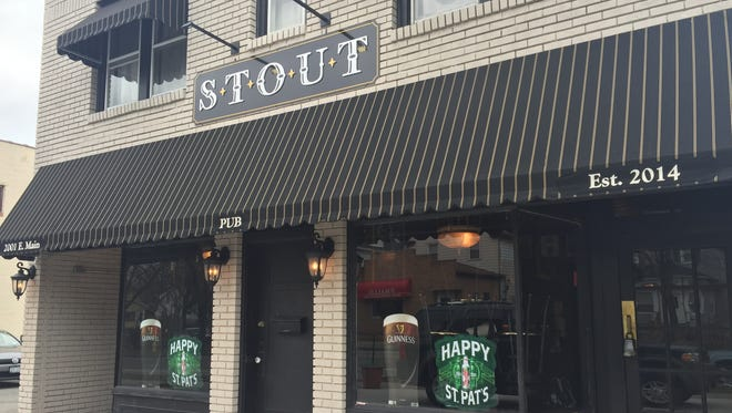 Stout opened in March 2016, although the awning says 2014.