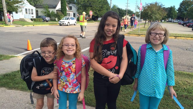 Students are excited for their first day of school Sept. 1 at Mead Elementary Charter School in Wisconsin Rapids.