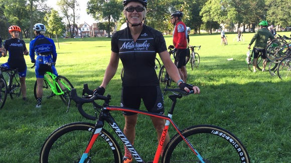 Jodie Prestine discovered cyclo-cross last year. Now the 52-year-old races competitively 22 times a year.
