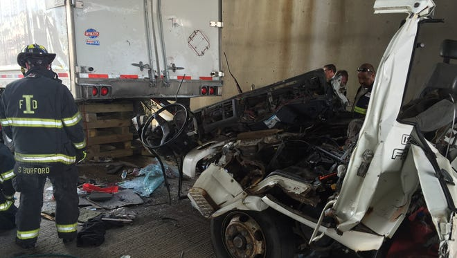 The driver of a dump truck died early Wednesday after rear-ending a semi on I-65 Tuesday. Another man was seriously injured.