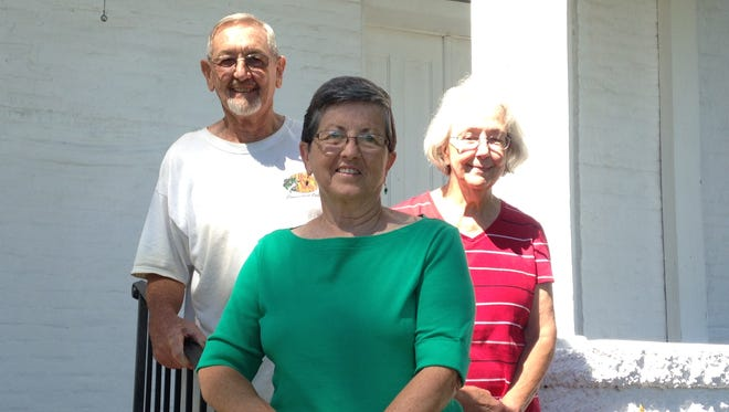 From left, Clifton Exum, Joyce Childress and Gene Jobe are active members of Mt. Carmel United Methodist Church. Exum and Jobe attended as children, while Childress moved from Oakfield UMC when it closed 10 years ago.