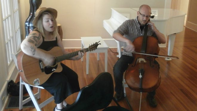 Kyle Anne Duggan and John Davis perform recently at the Shangri-La Springs resort and spa in Bonita Springs.