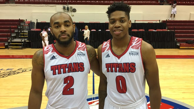 Detroit Mercy transfers Roschon Prince, left, and Kameron Chatman should help the Titans make great improvements from last season.