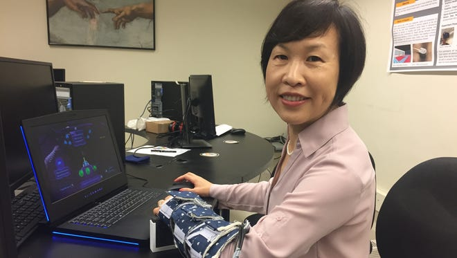 Purdue Professor Hong Tan's research is the first to demonstrate the English language being communicated solely through touch.