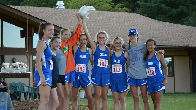The Brevard girls cross country team won the White Squirrel Classic meet last month in Transylvania County.