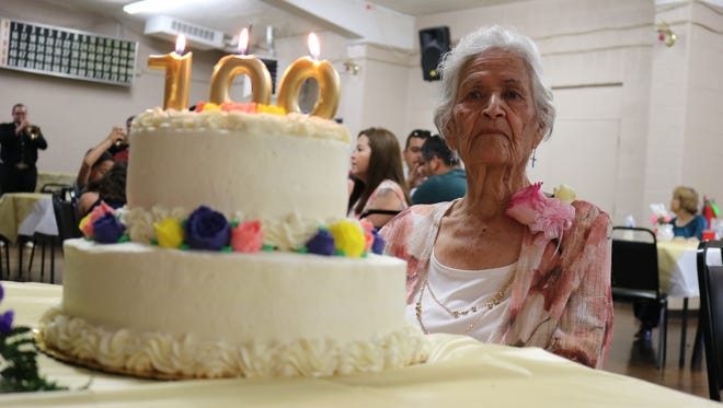 Isabel Rosales turned 100 on Sunday, July 8, 2018. She celebrated her birthday at the Elks Lodge in Las Cruces.