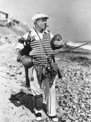 Comedian W.C. Fields is shown in character in the film