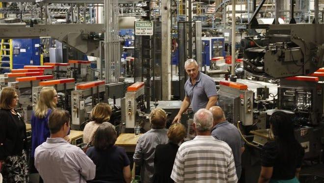Phil Baker show News-Press insider around the Press plant at The News-Press.