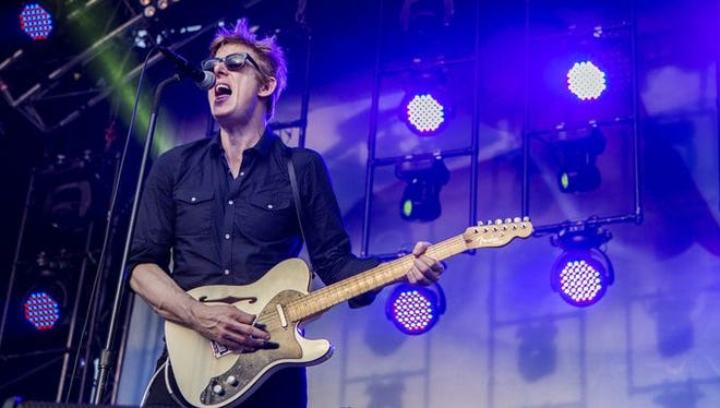 Spoon performs on The Lawn stage at Firefly Music Festival on Saturday.