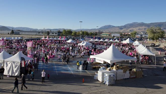 A photo from the 16th Annual Komen for the Cure run on Sunday morning, October 5, 2014 at the Grand Sierra Resort in Reno, Nevada.