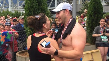 5 couples get engaged at Rock 'n' Roll Nashville Marathon finish line