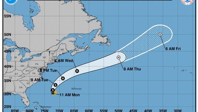 Tropical Storm Gert.