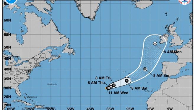 Tropical Storm Ophelia.
