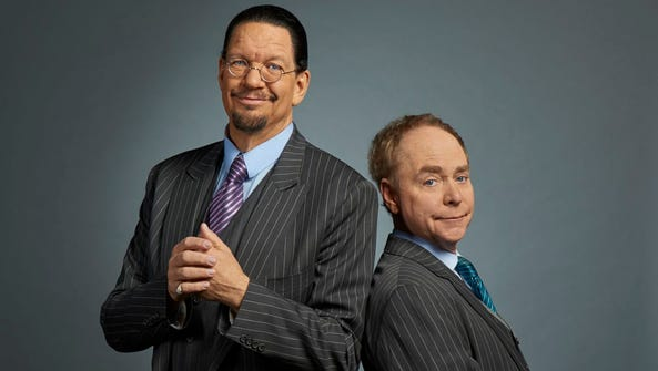 Penn and Teller are magicians/entertainers who have