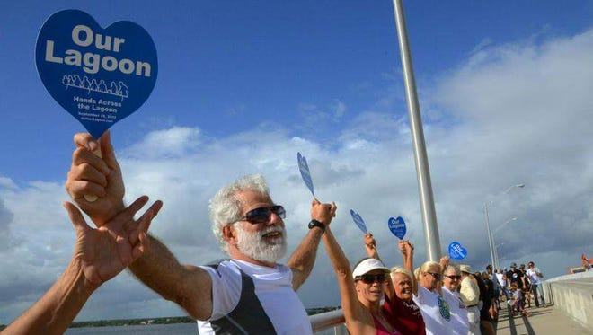 Terry Casto, Janice Spragins and hundreds of others stood on the Melbourne Causeway last month during Hands Across the Lagoon, an event to highlight the Indian River Lagoon.