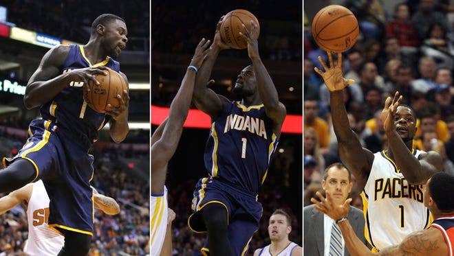 Pacers' guard Lance Stephenson leads the NBA with three triple-doubles this season.