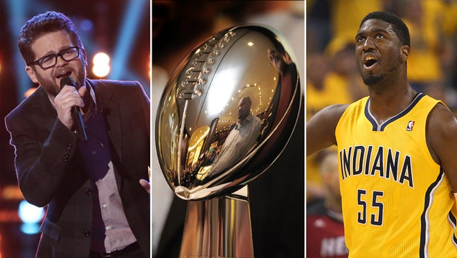 On Tuesday, we'll find out if Josh Kaufman wins 'The Voice,' whether or not Indy will host the 2018 Super Bowl and if the Pacers can take a 2-0 series lead over the Heat.