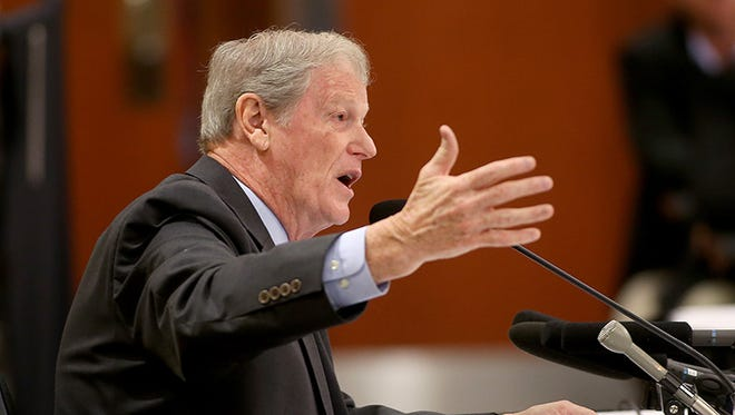 John Thrasher during interviews for the vacant Florida State President position in Tallahassee.