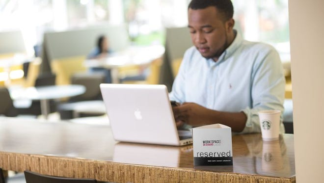 Marriott's Workspace on Demand program rents empty hotel spaces for workers or meetings.