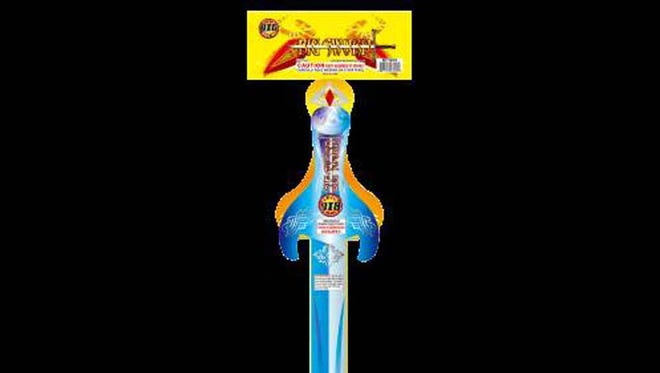 Big Sword fireworks device