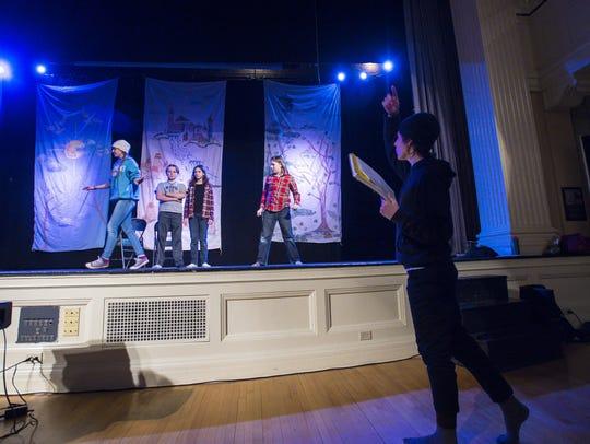 Emily Friedrichsen, from left, Nathan Brown, Zoe Hecht,