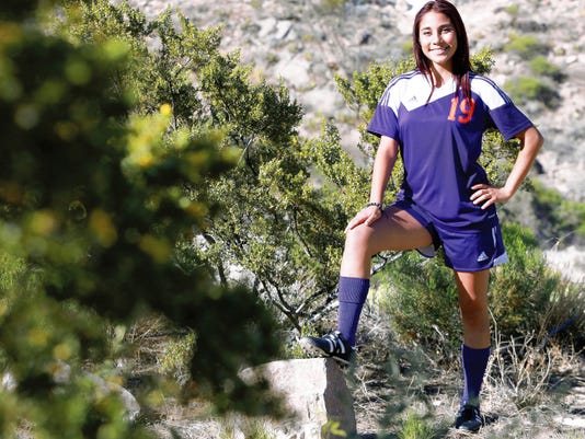VICTOR CALZADA-EL PASO TIMES Eastlake's Karla Parra is the girls soccer player of the year.