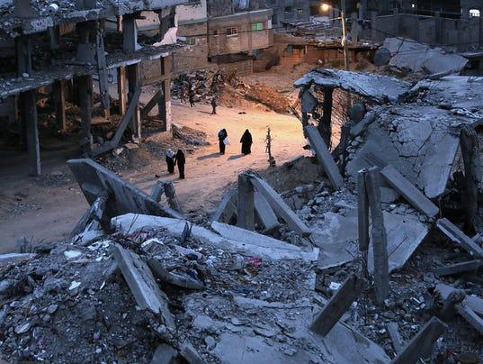 EPA MIDEAST ISRAEL PALESTINIANS GAZA WAR CONFLICTS (GENERAL) --- GA