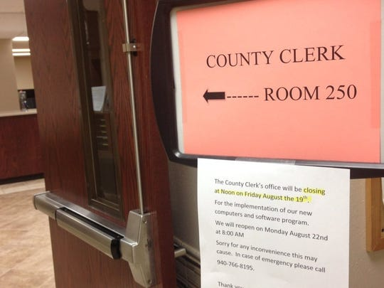 The Wichita County Clerk Lori Bohannon said Monday that due to the shelter-in-place order they will no longer be writing marriage licenses or issuing passports until further notice.