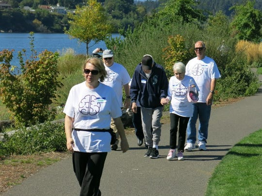Participants in the 2016 Walk, Run and Roll For Thought take to the trail at Lions Park in Bremerton. CONTRIBUTED PHOTO