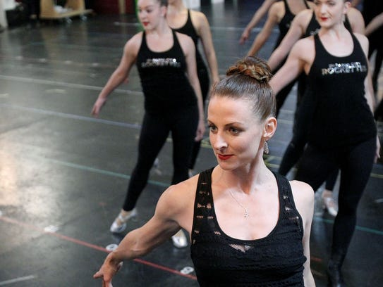 """Karen Keeler, creative director of The Radio City Rockettes, kicks off rehearsals for the 2017 """"Radio City Christmas Spectacular Starring the Rockettes,"""" on Oct. 12. After six weeks of 6-hour-a-day, 6-days-a-week rehearsals, the high-kicking precision dance team presents the holiday tradition, with routines choreographed by Keeler, who lives in Chappaqua."""