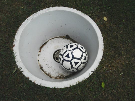 The object of FootGolf is to get a standard No. 5 soccer ball from a designated tee area into a 21-inch diameter cup, using as few kicks as possible.