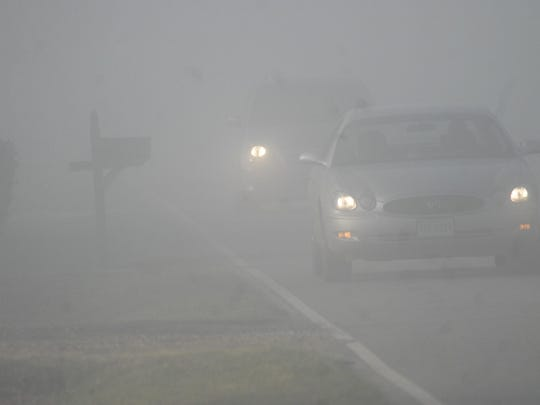 Areas of dense fog are expected to linger through 9 a.m. this morning, according to a statement from the National Weather Service in Wakefield, Virginia.