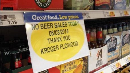 This Kroger store in Flowood was one of at least three grocers that refused to sell beer on Election Day, erroneously citing a now-defunct state law that didn't apply to low-alcohol content beverages anyway.