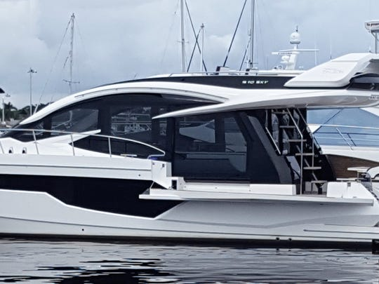 The Galeon 520 Skydeck offered at the Stuart Boat Show by MarineMax of Stuart is a must-see.