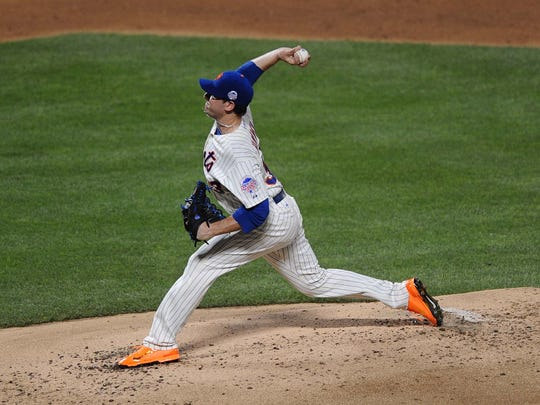 Matt Harvey pitches during the 2013 All Star Game at Citi Field.