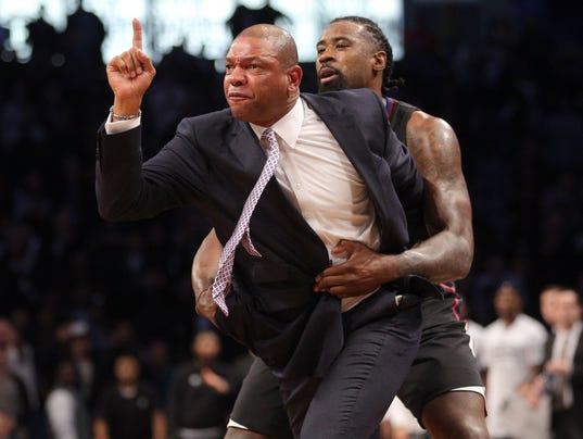 USP NBA: LOS ANGELES CLIPPERS AT BROOKLYN NETS S BKN USA NY