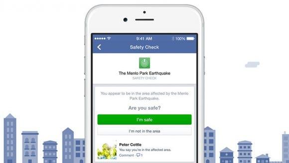 Facebook safety checks.
