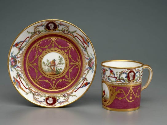 Tea helped create a porcelain industry in Europe. One